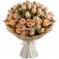 Роза кустовая 50см - 11, Гипсофила, Фетр, Лента